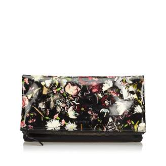 Alexander McQueen Black Patent leather Clutch Bag