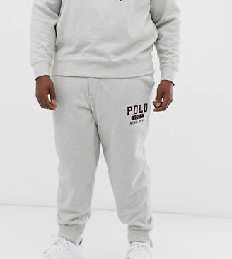 Polo Ralph Lauren Ralph Lauren Big & Tall 1967 athletic logo vintage fleece joggers in loft grey heather