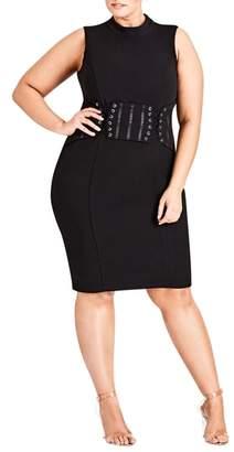 City Chic Corset Body-Con Dress