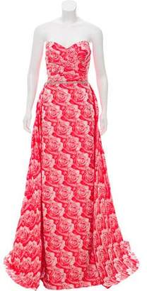 Jovani Embellished Jacquard Gown w/ Tags