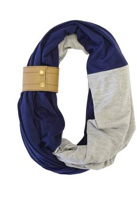 Motherhood Maternity Itzy Ritzy Nursing Happens Infinity Breast Feeding Scarf with Leather Cuff
