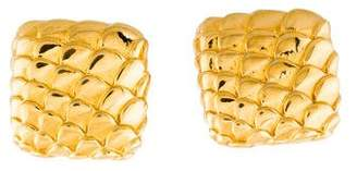Judith Leiber Gold-Tone Scale Clip-On Earrings