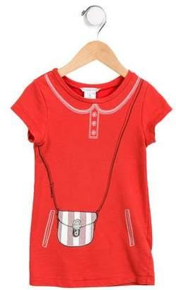 Little Marc Jacobs Girls' Short Sleeve Printed Dress