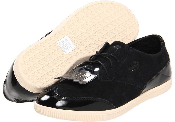 Puma Clyde Brogue Lo (Black/Black) - Footwear