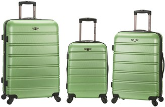Rockland Fox Luggage Luggage Melbourne 3 Piece ABS LuggageSet