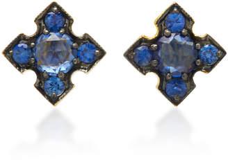 Ila Igafe 14K Gold Blue Sapphire Stud Earrings