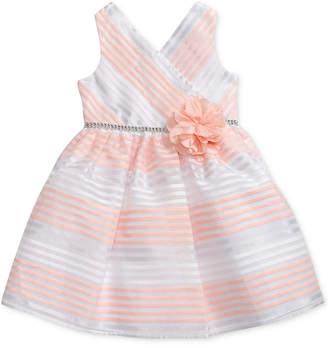 Sweet Heart Rose Striped Dress, Toddler Girls