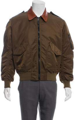 Givenchy Zip Front Bomber Jacket