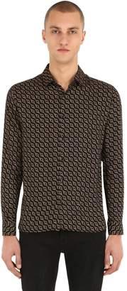 The Kooples Printed Viscose Poplin Shirt