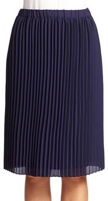 Lord & Taylor Pleated Crepe Skirt $108 thestylecure.com
