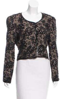 Giorgio Armani Embellished Lace Jacket