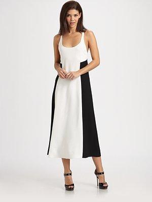 10 Crosby Derek Lam Colorblocked Crepe Dress