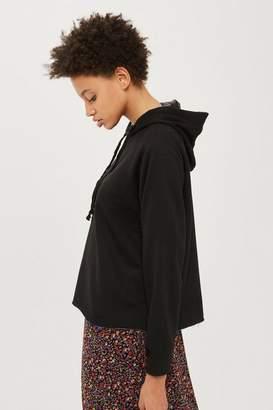 Petite raglan hoodie