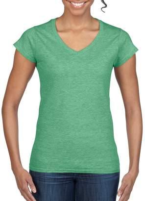 Gildan Ladies Soft Style Short Sleeve V-Neck T-Shirt (S)