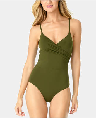 Anne Cole Live In Color Surplice One-Piece Swimsuit Women's Swimsuit