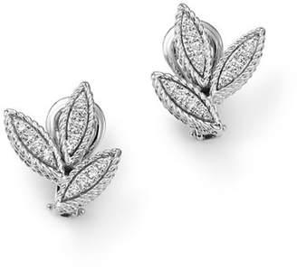 Roberto Coin 18K White Gold Diamond Petals Diamond Earrings - 100% Exclusive
