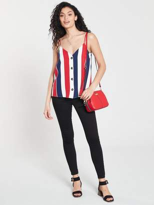River Island Stripe Button Detail Cami- Stripe