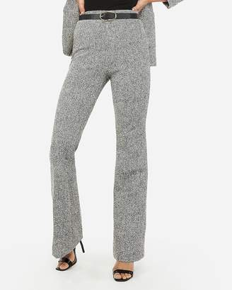 Express Super High Waisted Textured Knit Pull-On Flare Pants