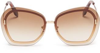 Victoria Beckham 'Floating Butterfly' oversized angular metal sunglasses