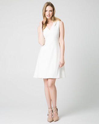 Le Château Double Weave Fit & Flare Dress