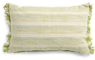 Made In India 16x24 Woven Textured Pillow