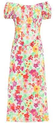 Caroline Constas Off-the-shoulder Stretch-cotton Midi Dress