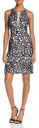 Aidan Mattox Mesh-Detail Embroidered Dress - 100% Exclusive