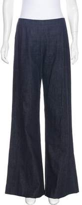 Donna Karan High-Rise Wide-Leg Jeans