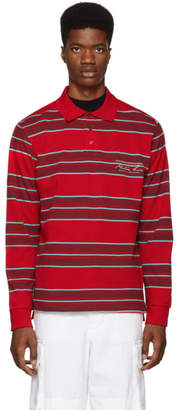 Martine Rose Red and Green Polo Shirt