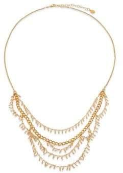 Chan Luu Crystal Charm Draped Multi-Row Necklace