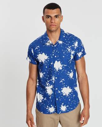 Ams Blauw Short Sleeve All-Over Print Shirt