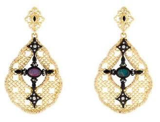 Armenta Diamond, Opal & Sapphire Old World Mesh Drop Earrings