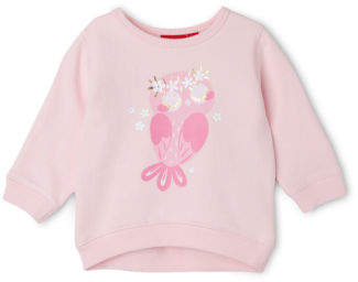 Sprout NEW Girls Essential Crew Neck Sweat - Owl/Pale Pink Lt Pink