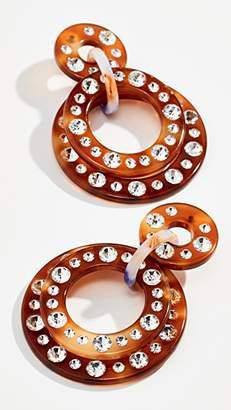 Lele Sadoughi Starlight Crystal Hoop Earrings