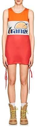 D-ANTIDOTE Women's Orange-Print Piqué Minidress