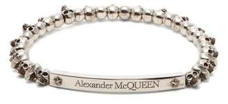 Alexander McQueen Mini Skull Bead Bracelet - Mens - Silver
