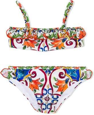 Dolce & Gabbana Maiolica-print bikini set