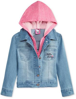 Hello Kitty Little Girls' Hoodie Denim Jacket $46 thestylecure.com