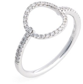 Women's Bony Levy Open Circle Diamond Ring $1,095 thestylecure.com