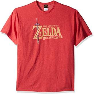Nintendo Men's Zelda Breath of the Wild Link Basic Logo T-Shirt