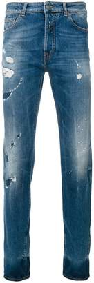Marcelo Burlon County of Milan Mas slim-fit vintage-wash jeans