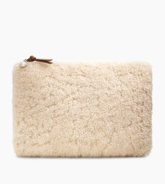 UGG Large Sheepskin Zip Pouch