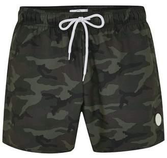 Topman Mens Multi Camouflage Print Swim Shorts