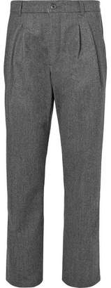 Arpenteur Serge Pleated Virgin Wool And Cotton-Blend Trousers