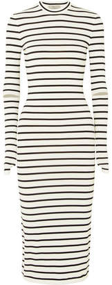 Preen by Thornton Bregazzi Nikki Striped Stretch-crepe Midi Dress - White