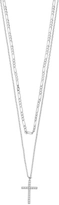Paige Harper Cubic Zirconia Cross Layered Necklace