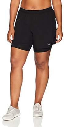 Champion Women's Plus Size Woven 2 in 1 Short