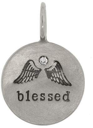 Heather B Moore Blessed Wing Charm - White Gold