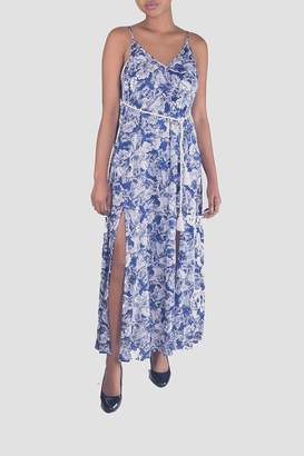 En Creme Seashore Printed Maxi-Dress
