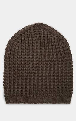 Barneys New York Men's Waffle-Knit Wool-Cashmere Beanie - Dk. brown